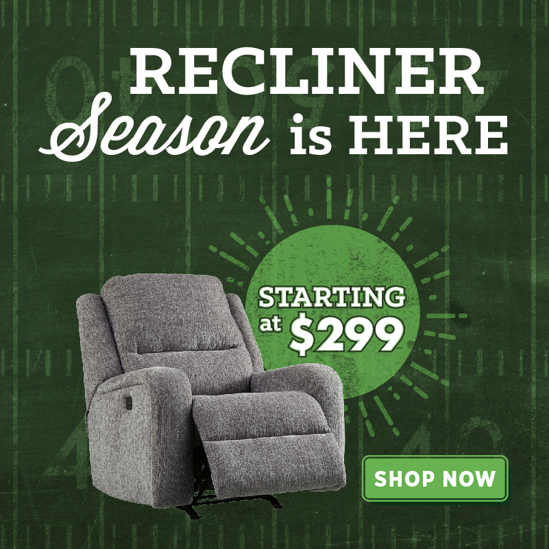 Recliners at Wichita Furniture