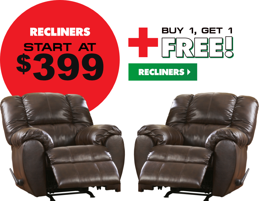 Buy one recliner, get one FREE