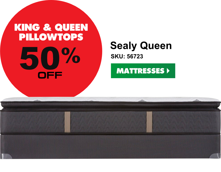 King and Queen mattresses up to 50% off