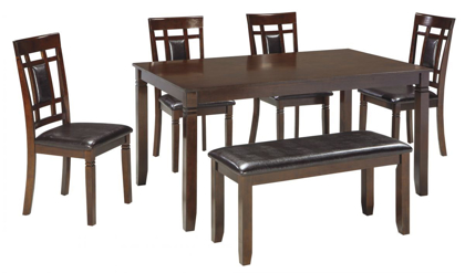 Picture of Bennox Table, 4 Chairs & Bench