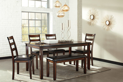 Picture of Coviar Table, 4 Chairs & Bench