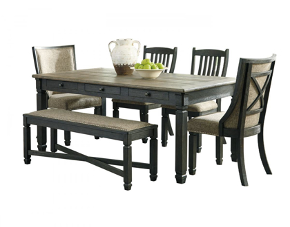 Picture of Tyler Creek Table, 4 Chairs, & Bench