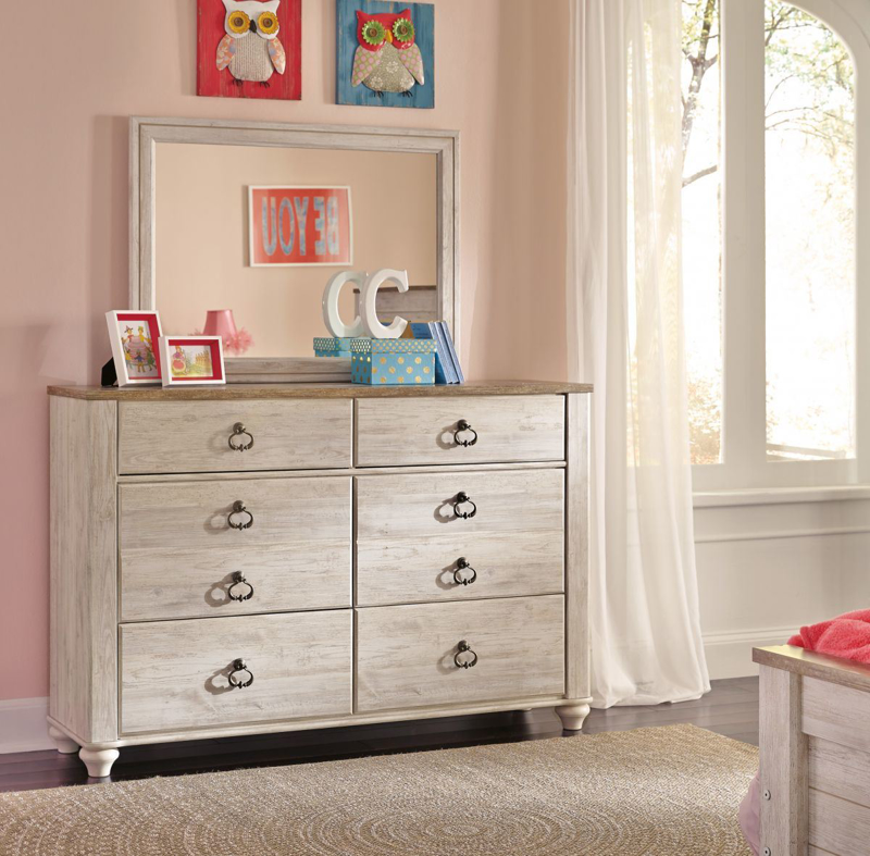Willowton Dresser & Mirror