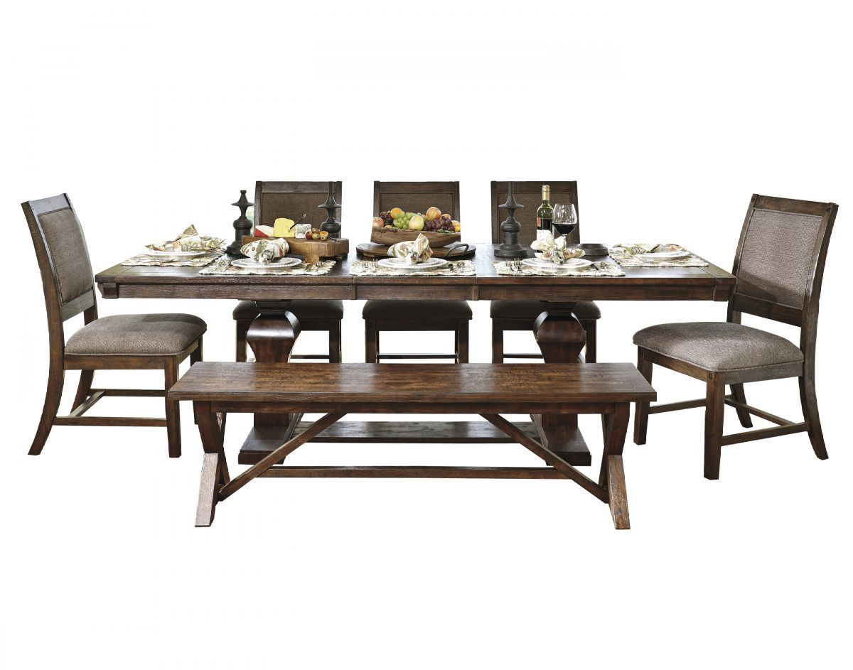Picture of Windville Table, 5 Chairs & Bench