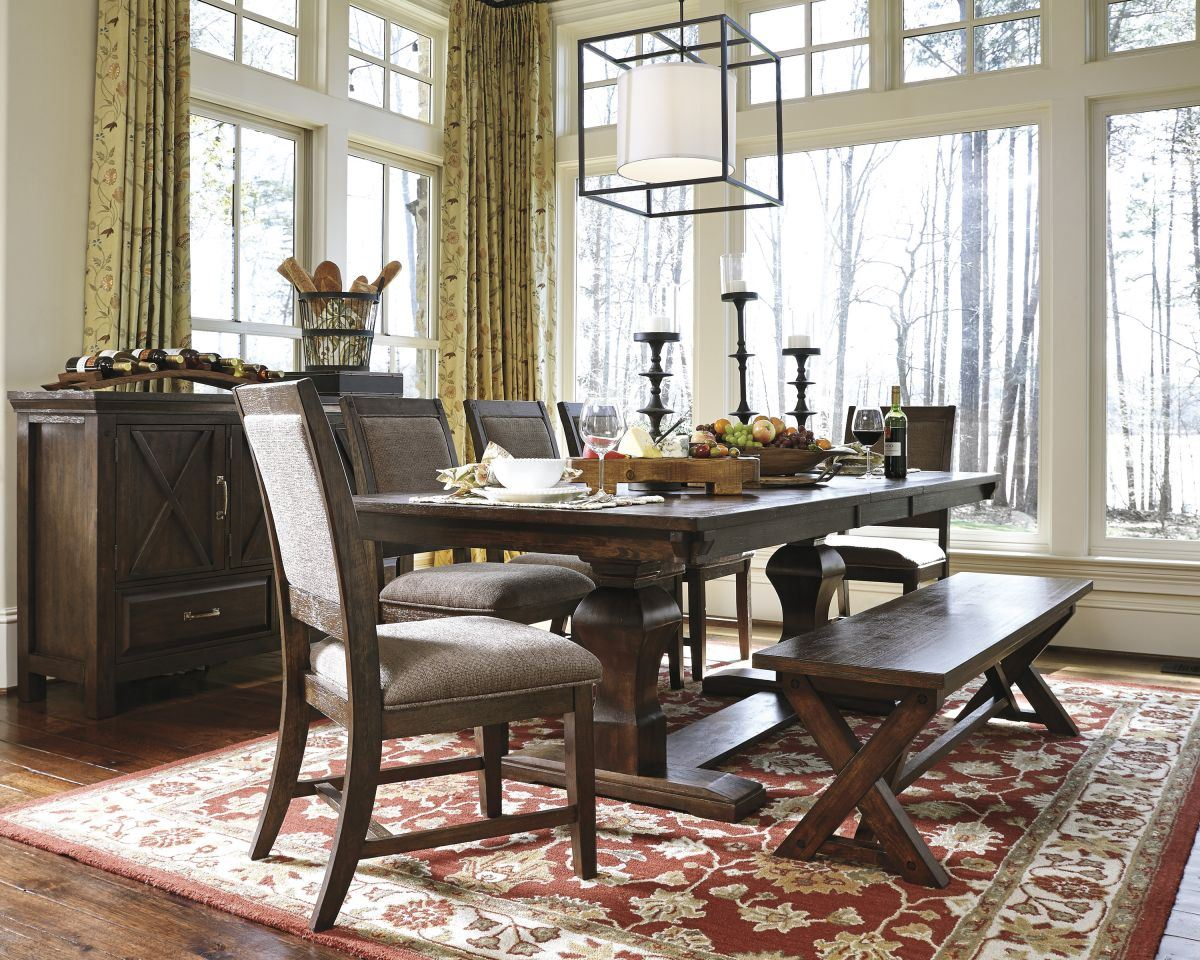 Windville Table 5 Chairs Bench