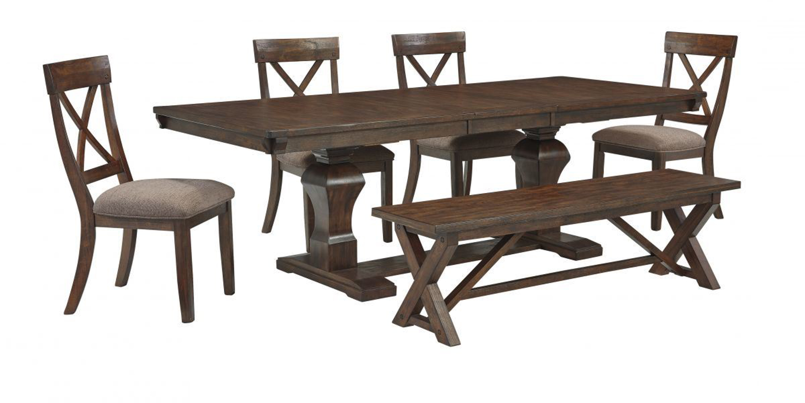 Picture of Windville Table, 4 Chairs & Bench