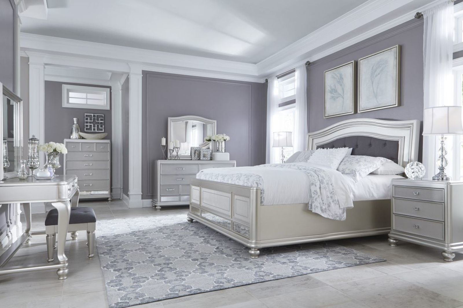 Picture of Coralayne 6 Piece King Bedroom Group