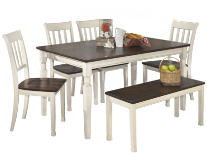 Picture of Whitesburg Table, 4 Chairs & Bench