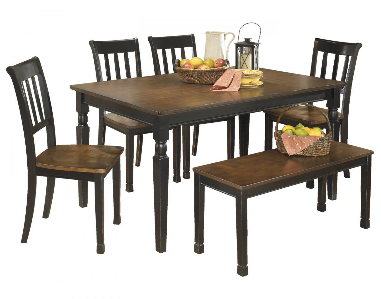 Picture of Owingsville Table, 4 Chairs & Bench