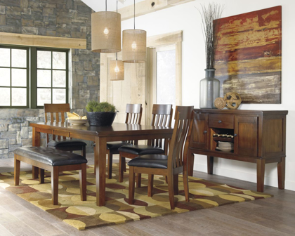 Picture of Ralene Table, 4 Chairs & Bench