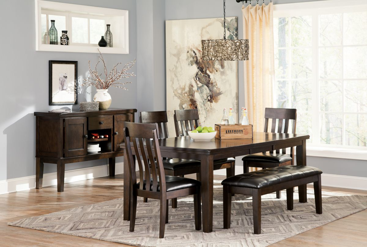 Picture of Haddigan Table, 4 Chairs & Bench