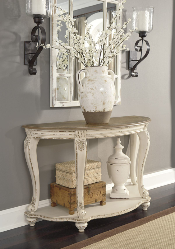 Realyn Console Sofa Table