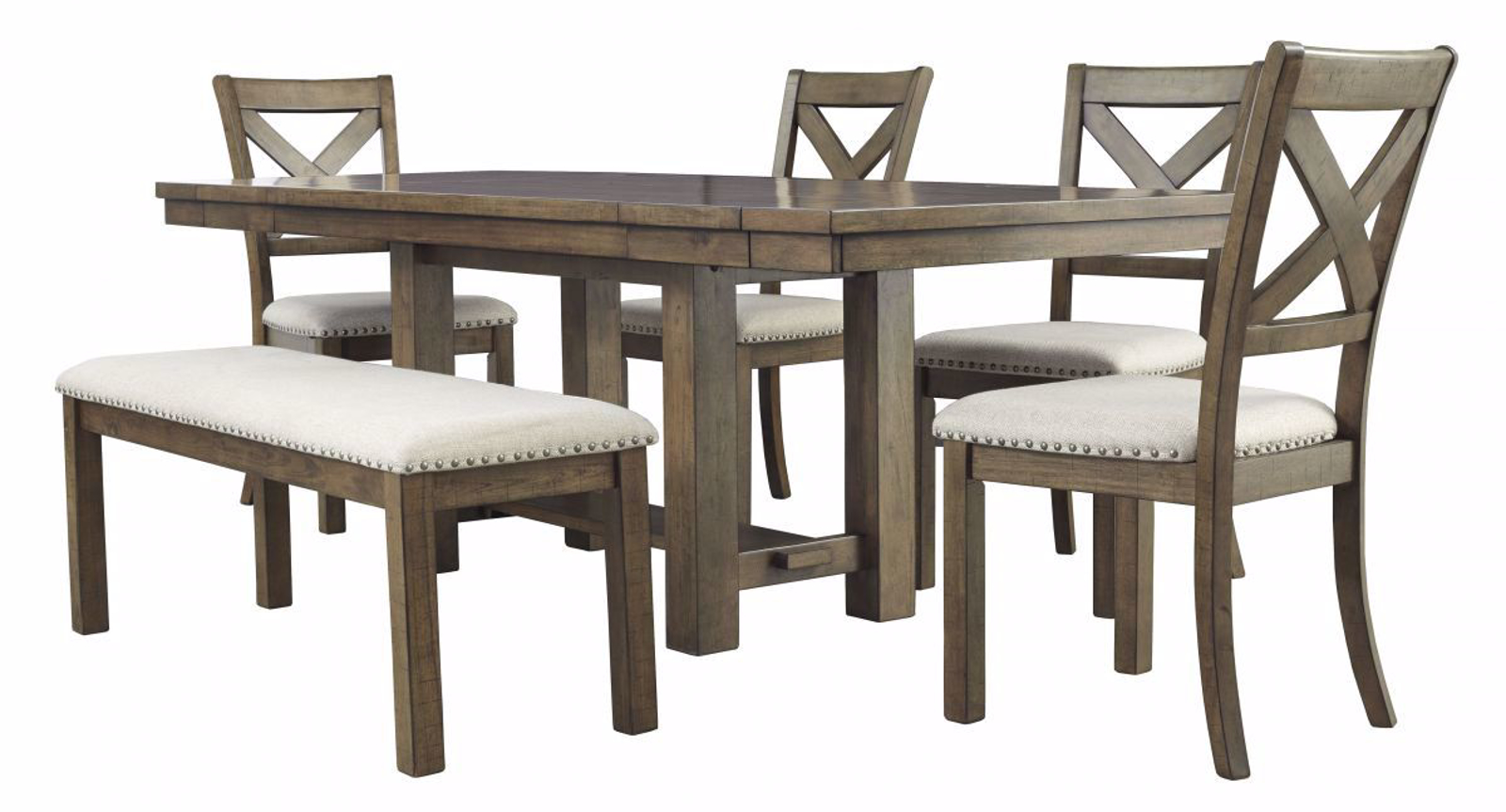 Moriville Table, 4 Chairs & Bench