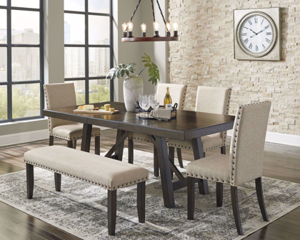 Picture of Rokane Table, 4 Chairs & Bench