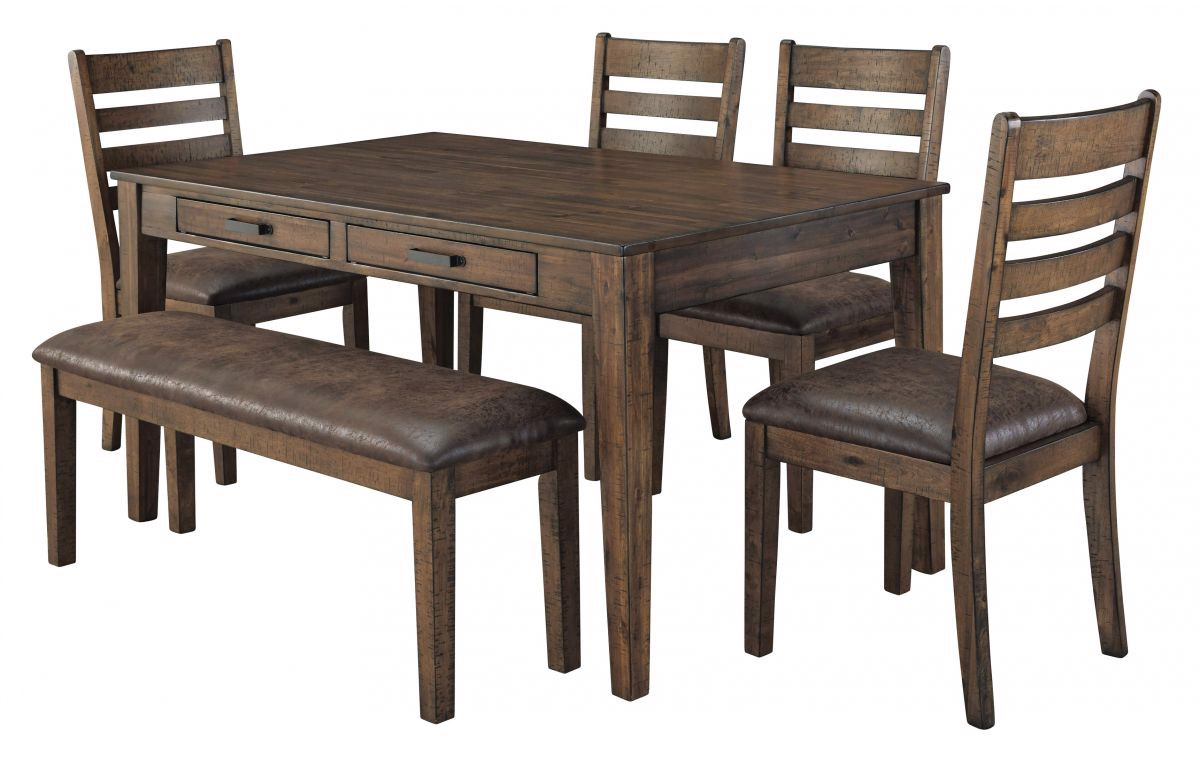 Picture of Royard Table, 4 Chairs & Bench