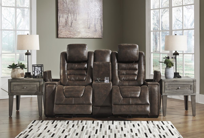 Game Zone Reclining Power Loveseat
