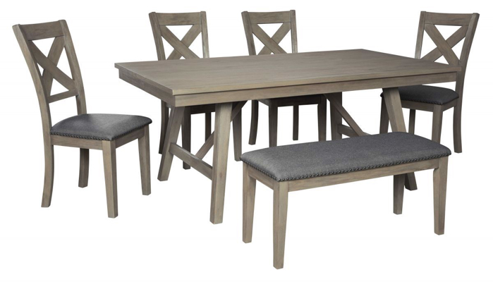Picture of Aldwin Table, 4 Chairs & Bench