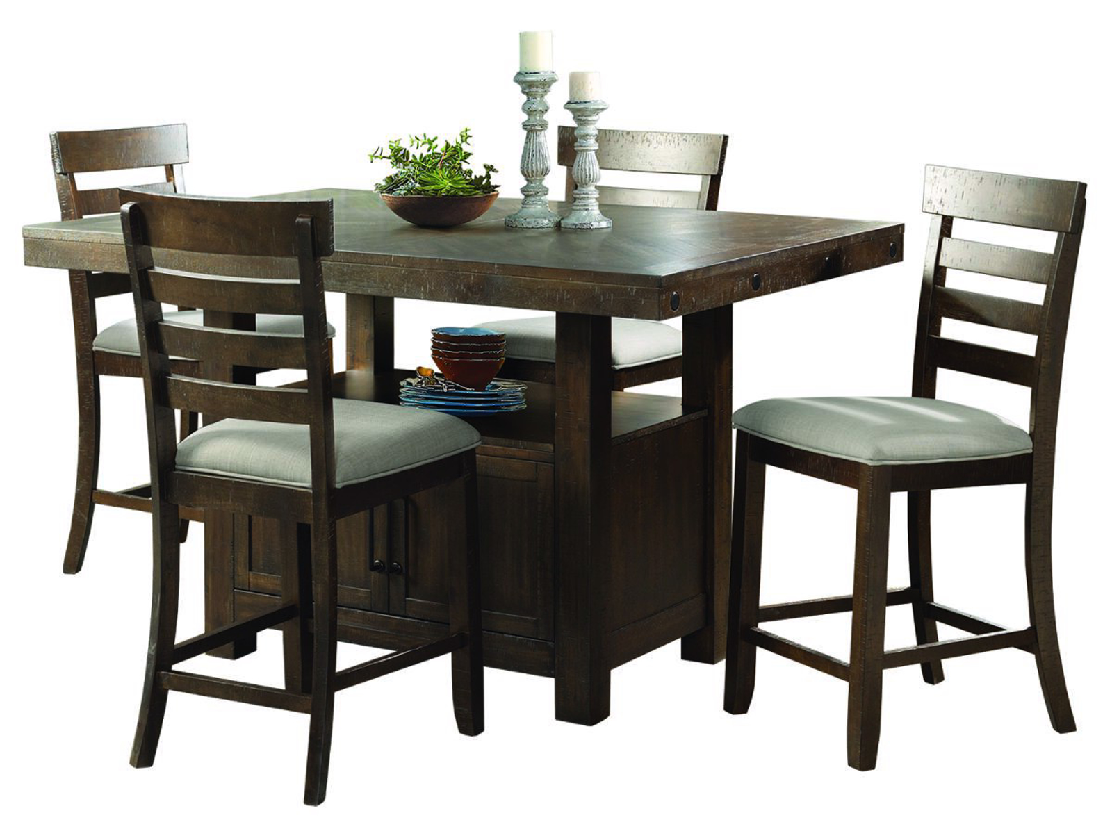 Picture of Colorado Pub Table & 4 Stools
