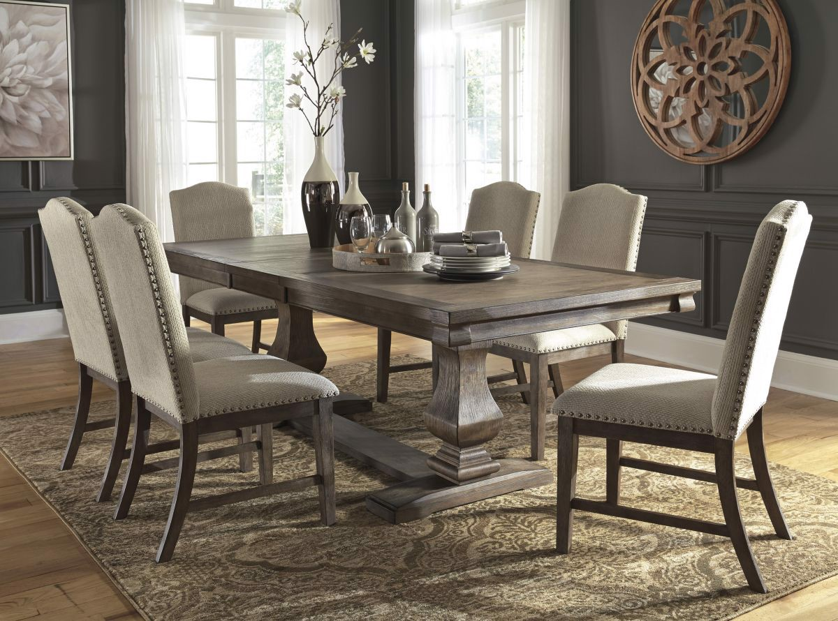 Cucina Letters Kitchen Decor, Johnelle Table 6 Chairs