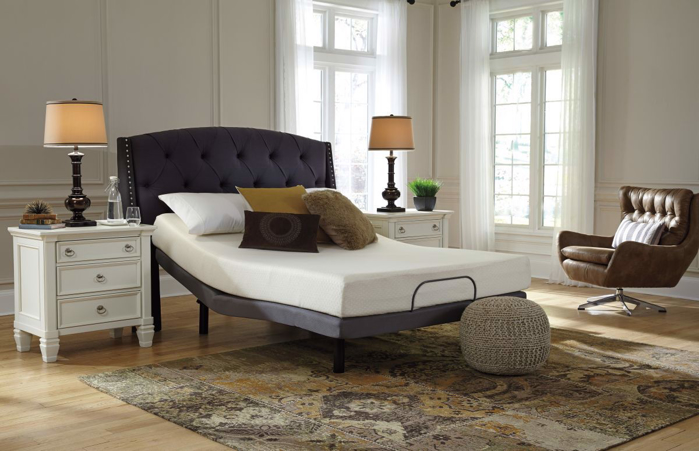 Picture of Chime 8in Memory Foam Queen Mattress & Powerbase