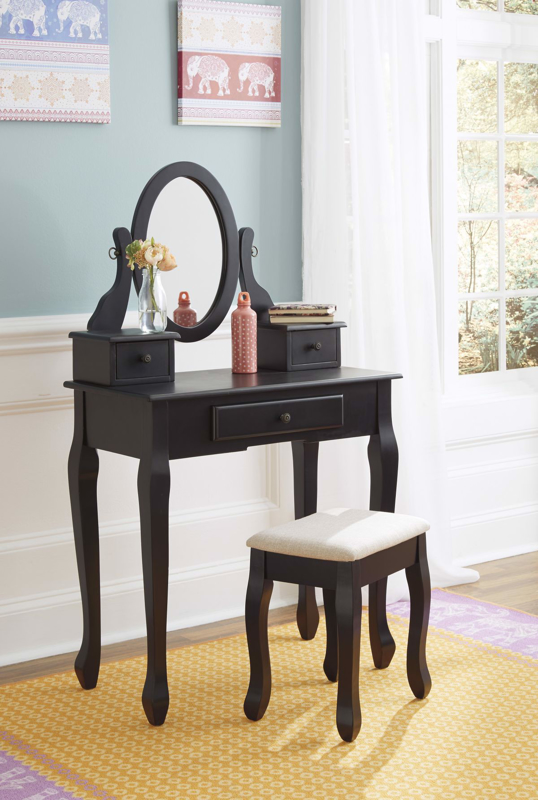 Huey Vineyard Vanity, Mirror & Stool