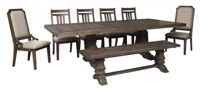 Picture of Wyndahl Table, 6 Chairs & Bench