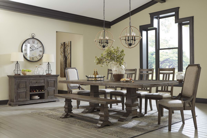 Wyndahl Table, 6 Chairs & Bench