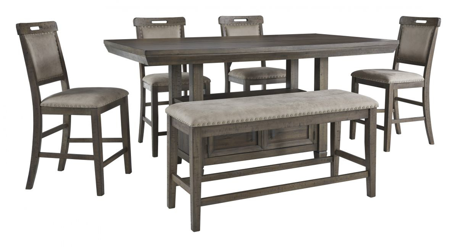 Picture of Johurst Pub Table, 4 Stools & Bench
