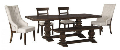 Picture of Hillcott Table, 4 Chairs & Bench