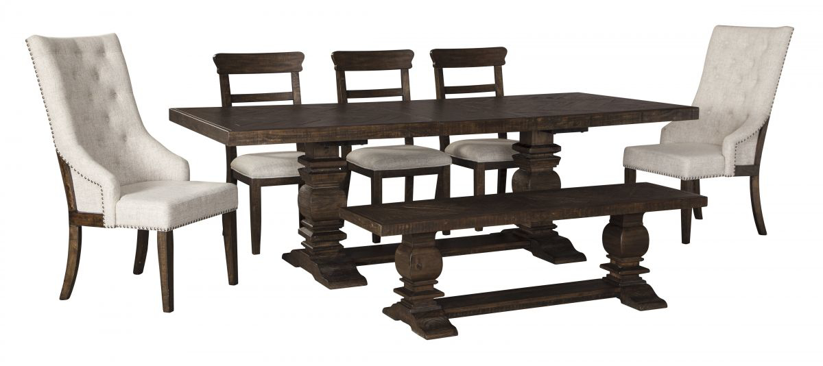 Picture of Hillcott Table, 5 Chairs & Bench