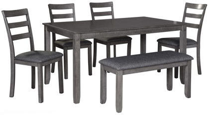 Picture of Bridson Table, 4 Chairs & Bench