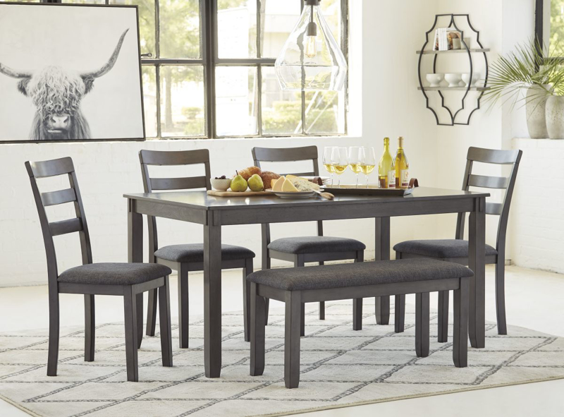 Bridson Table, 4 Chairs & Bench