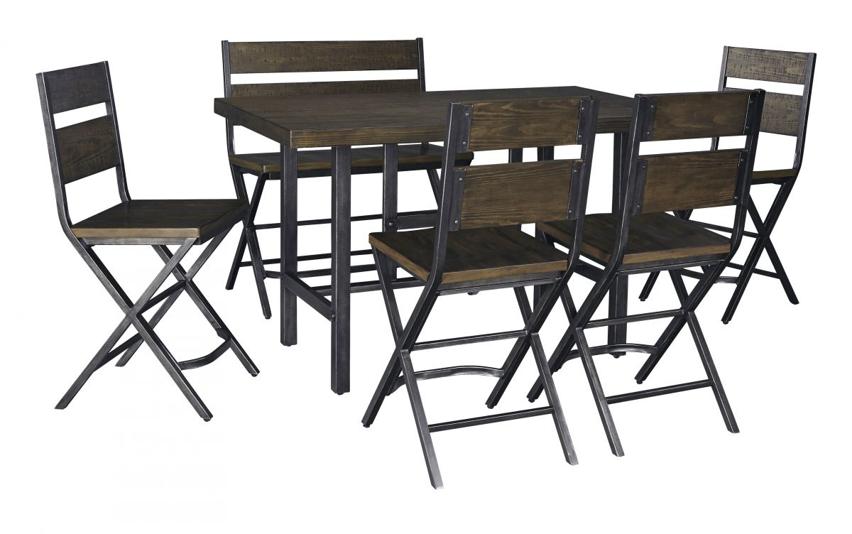 Picture of Kavara Pub Table, 4 Stools & Bench