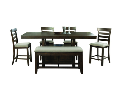 Picture of Colorado Pub Table, 4 Stools & Bench