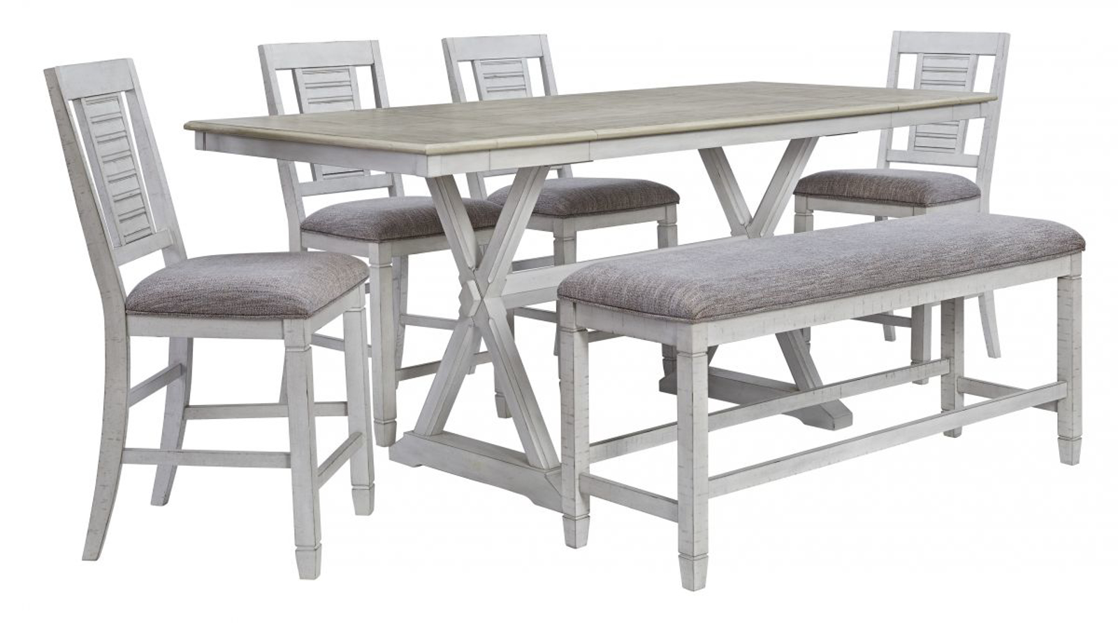 Picture of Teganville Pub Table, 4 Stools & Bench
