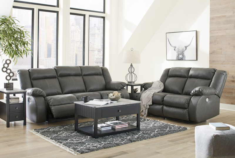 Denoron Reclining Power Loveseat