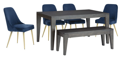 Picture of Trishcott Table, 4 Chairs & Bench