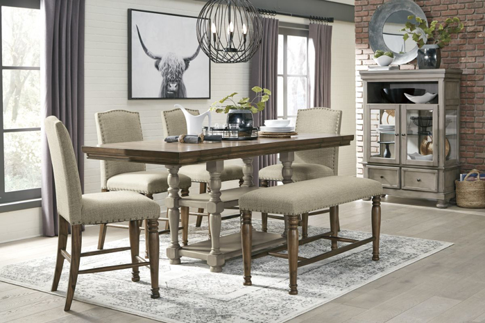 Picture of Lettner Pub Table, 4 Stools & Bench