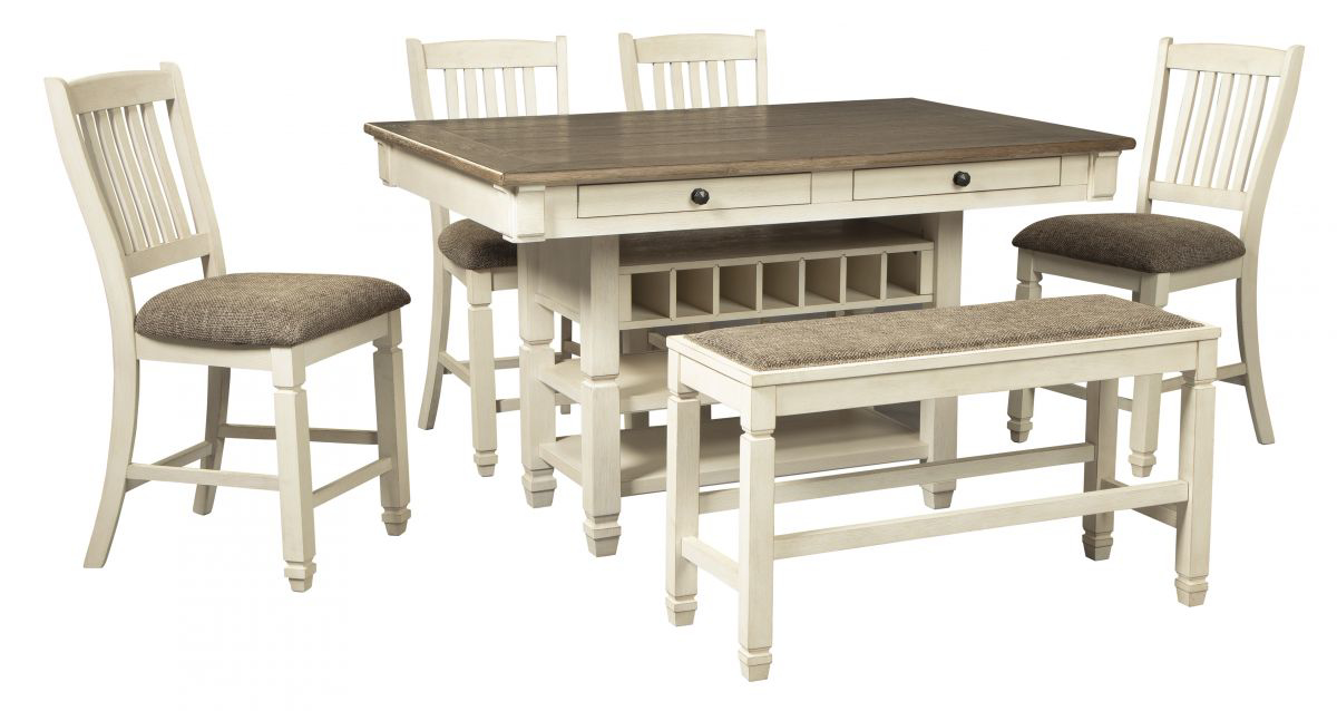 Picture of Bolanburg Pub Table, 4 Stools & Bench