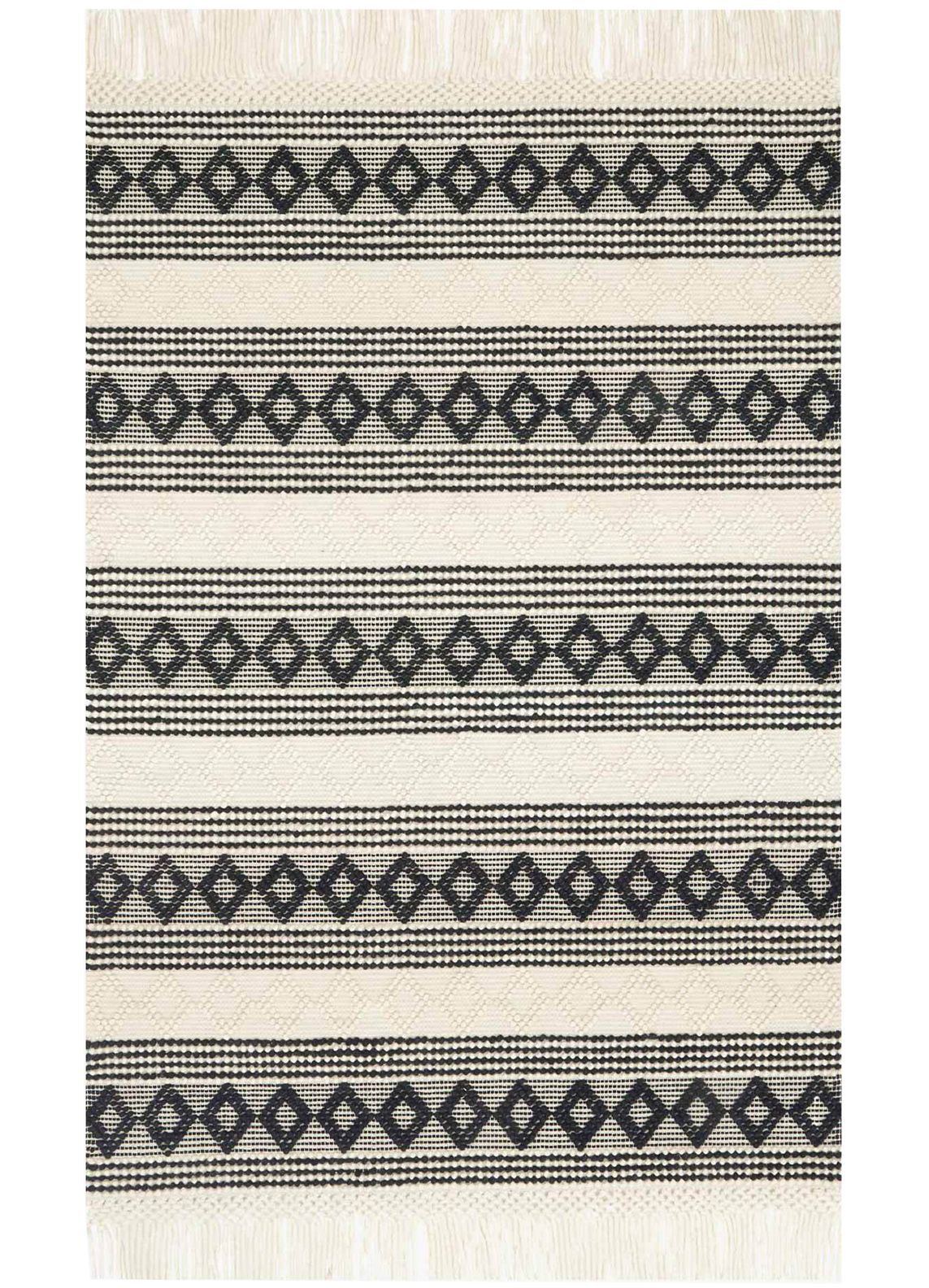 Picture of Holloway Ivory/Black Large Rug
