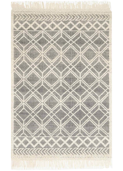 Picture of Holloway Black/Ivory Medium Rug