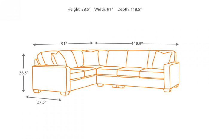 Picture of Alenya Sectional with Ottoman