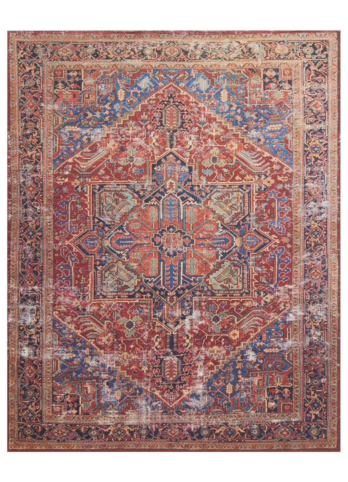 Picture of Lucca Red/Blue Large Rug