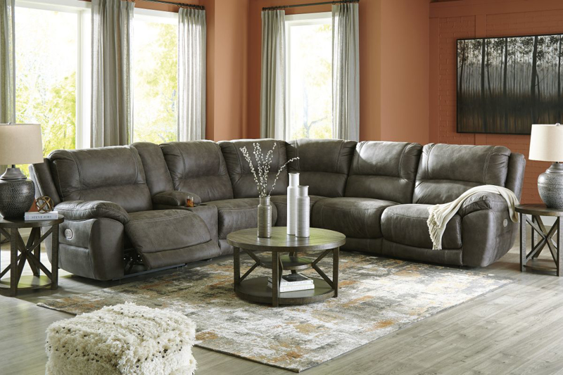 Cranedall Reclining Power Sectional