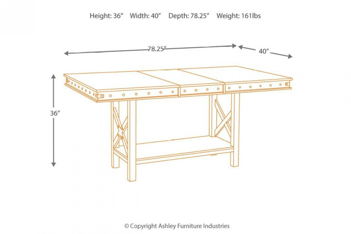 Picture of Collenburg Counter Height Pub Table