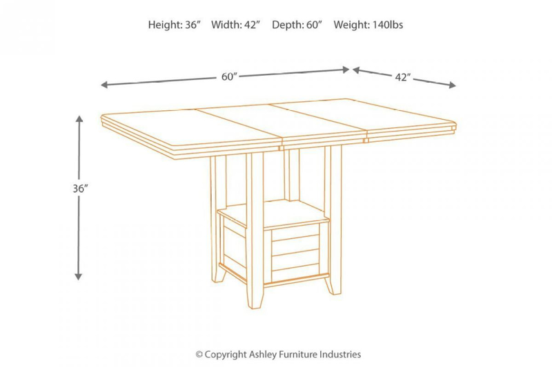Haddigan Counter Height Pub Table