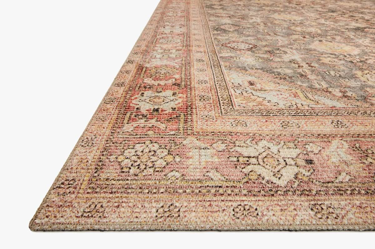 Picture of Deven Charcoal/Blush Medium Rug