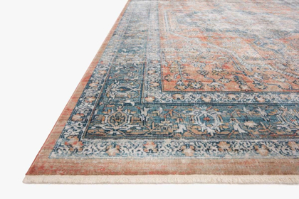Picture of Elise Coral/Blue Medium Rug
