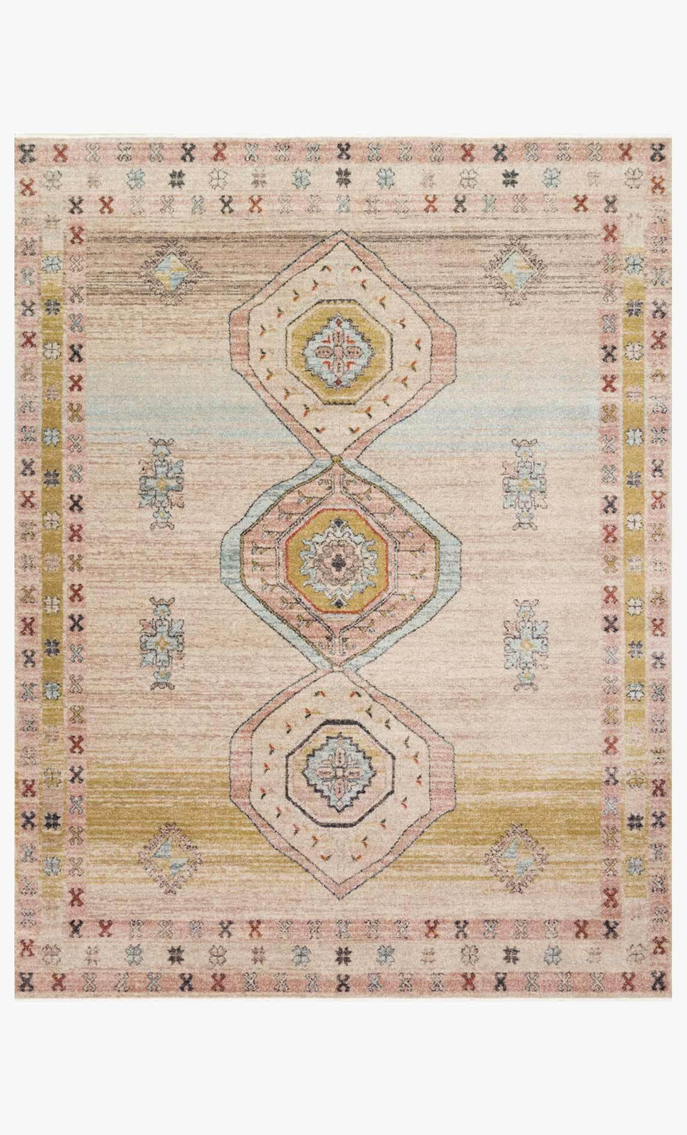 Picture of Graham Antique Ivory/Multi Rug