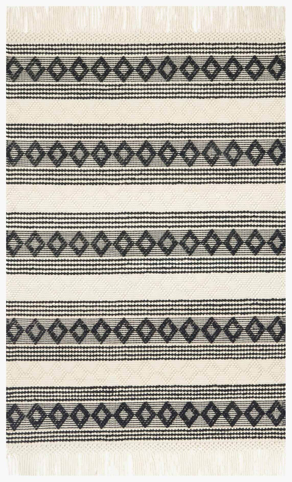 Picture of Holloway Ivory/Black Rug